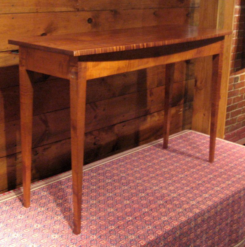 Tiger Maple Sofa Table
